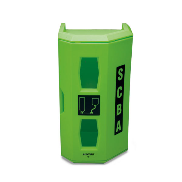 Allegro HI-VIZ Heavy Duty SCBA Wall Case-Green