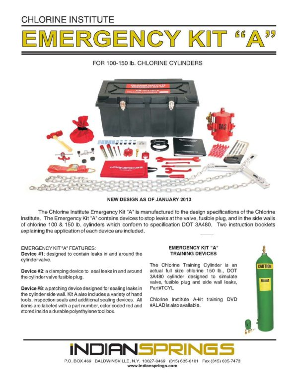 Chlorine Institute Emergency Kit A Literature