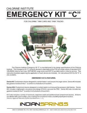 Chlorine Institute Emergency Kit C Literature