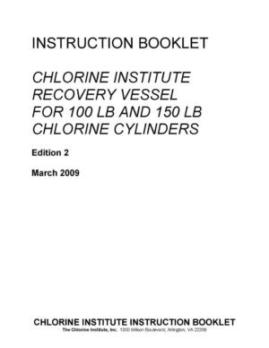 Chlorine Institute Recovery Vessel Instruction Booklet