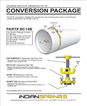 Chlorine Institute Emergency Kit B Conversion Package Literature