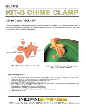 Chlorine Kit B Chime Clamp Literature