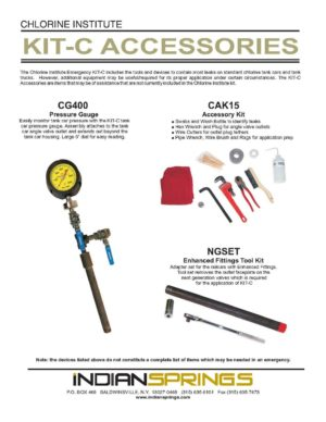 Chlorine Institute Kit C Accessories Literature
