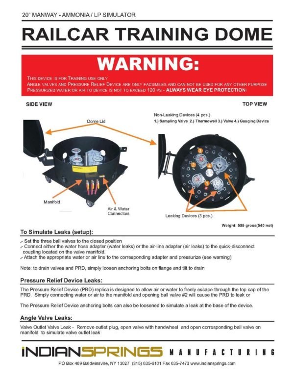 Instruction Sheet for DOME-LPNH training dome